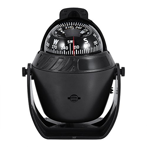 LED Light Marine Digital Compass, LED Light Pivoting Compass Dashboard Dash Mount Suitable for Car Boat and Truck -