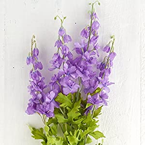 Hanken Beautiful Artificial Purple Delphinium Floral Bush for Home Decor, Crafting and Displaying 62