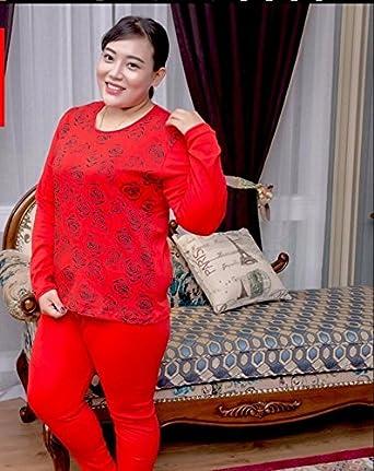 GBHNJ Ropa Interior Térmica Juegos Mujer Otoño E Invierno Red Xxxxxl