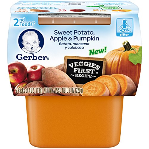 Gerber 2nd Foods Sweet Potato Apple Pumpkin Baby Food (Pack of (2nd Sweet Potato)
