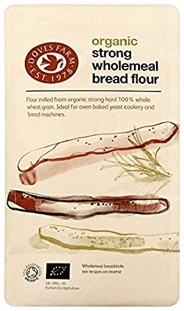 Doves Farm Organic Strong Wholemeal Bread Flour 1 5 Kg Pack Of 5