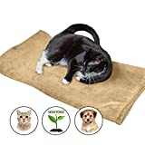 Thermal Warming Pad for Dogs and Cats - XL Couch Protecting Pet Bed (Beige)