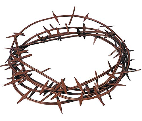 Crown Of Thorns (Plastic), Color-Brown, Fits One Size ()