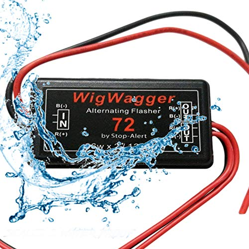 Stop-Alert WigWagger 72 LED Electronic Wig Wag Alternating Flasher Relay -  Powerful & Waterproof Best for Police, Ambulance, Emergency - Universal