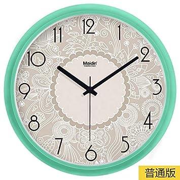 ZHYWJ Cocina Silencio Sin tictac Característica Batería de Cuarzo Moda Digital Sin Ruido Moderno Reloj Minimalista
