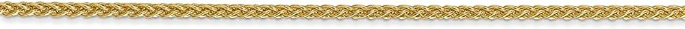 Chain Necklace 3.06g 14k Yellow Gold 1.55mm Spiga Wheat