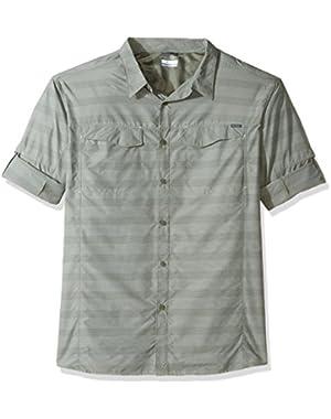 Men's Big-Tall Silver Ridge Plaid Long Sleeve Shirt, Cypress Stripe, 4XT