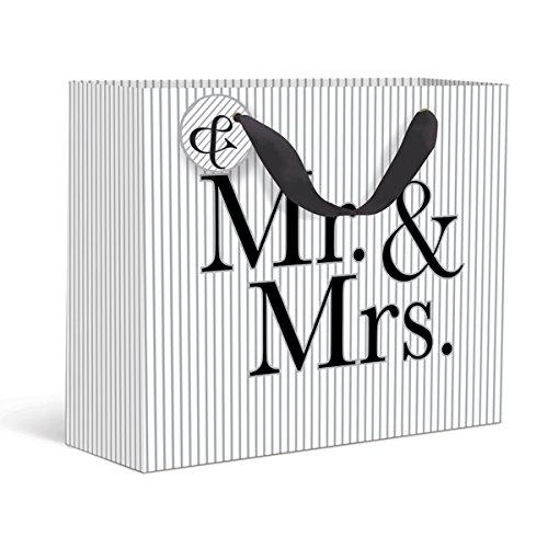 Mr. & Mrs. Pinstripe Large Gift (Large Wedding Gift Bags)