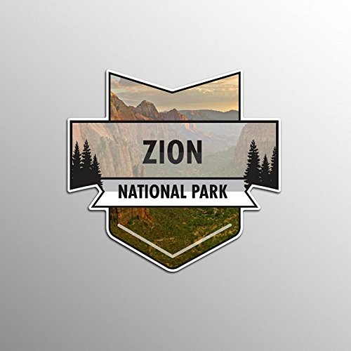 JMM Industries Zion National Park Vinyl Decal Sticker Car Window Bumper 2-Pack 4.7-Inches by 4.4-Inches Premium Quality UV Protective Laminate NPS060