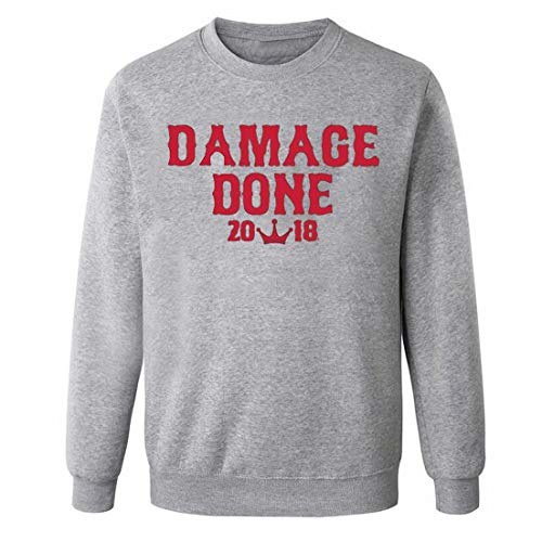 Damage Done Boston Series 2018 Champions-Camiseta de algod¨n para Hombre,Color gris,Evelen men'sweater