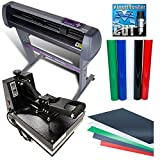 "USCutter Bundle: 28"" MH721 Vinyl Cutter + 15"" x 15"" Heat Press + Vinyl"