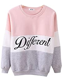Cute Hoodies Sweater Pullover Letters Diffferent Printed Mix Color