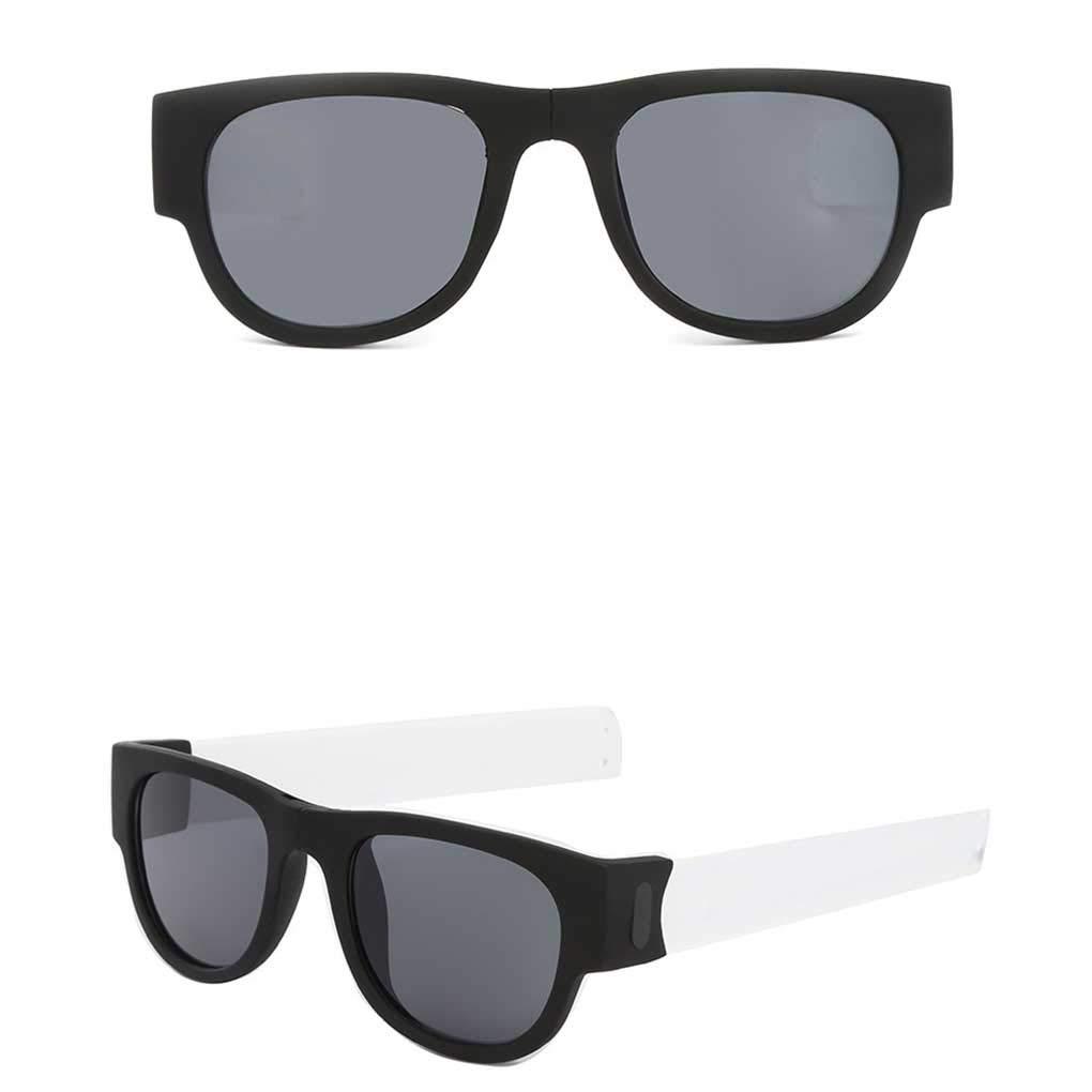 Women Men Folding Sunglasses Beach Sports Eyeglasses Male Female Silicone Bracelet Eyewear