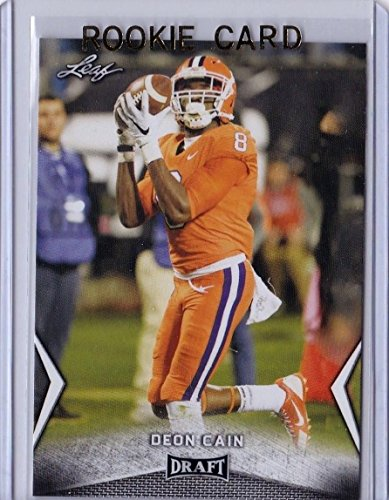 """Leaf DEON CAIN 2018"""" 1ST EVER PRINTED DRAFT ROOKIE CARD! CLEMSON TIGERS/INDIANAPOLIS COLTS!"""