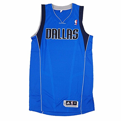 adidas Dallas Mavericks NBA Blue Official Authentic On-Court Revolution 30 Away Road Jersey for Men (XLT) ()