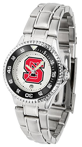 (Linkswalker North Carolina State Wolfpack Competitor Ladies Steel Watch)