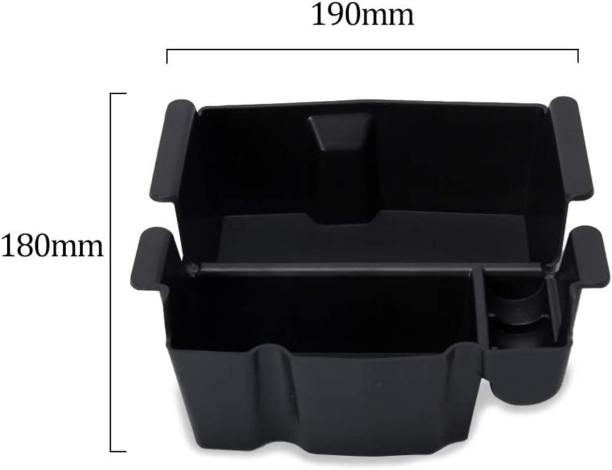 EVTIME for 2018 2019 Jeep Wrangler JL and JLU Accessories Center Console Organizer Tray Also for 2020 Jeep Gladiator JT Truck
