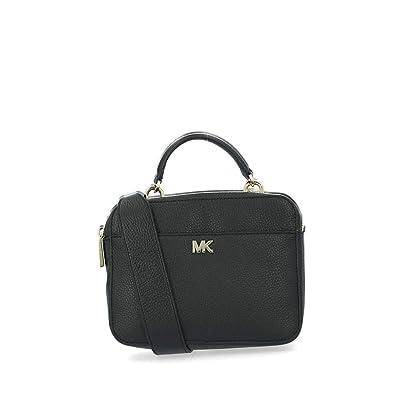 640c700ced563 Michael Kors Guitar Black Pebbled Leather Cross-Body Bag Black Leather