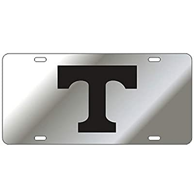 Craftique Tennessee Volunteers Mirror Laser Cut License Plate: Sports & Outdoors