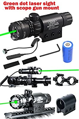 Ledsniper®hot Useful Brand New Tail Cap Switch Green Dot Laser Sight Outside Adjust Rifle Gun Scope 2 Switch with Pressure Swithc Wholekits by Ledsniper®(us seller)