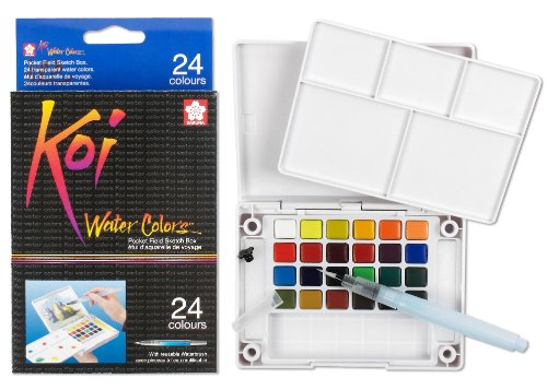 sakura-xncw-24n-24-assorted-watercolors-field-sketch-set-with-brush