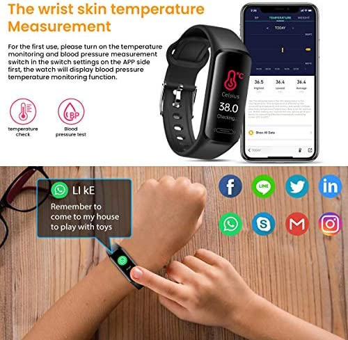 CanMixs Fitness Tracker Watch for Kids Girls Boys Teens,Activity Tracker,HD Color Screen Heart Rate Sleep Monitor,Pedometer,Calorie Counter,Alarm Clock,IP68 Waterproof Sport Digital Watch Women Men 5