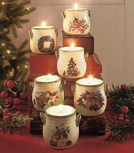 Sets of 6 Christmas Tea Light Crocks