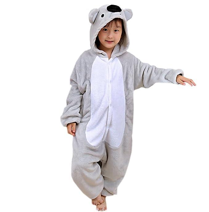 ECHERY Unisex Children Pajamas Cartoon Sleepwear Animal Cosplay Koala Costume