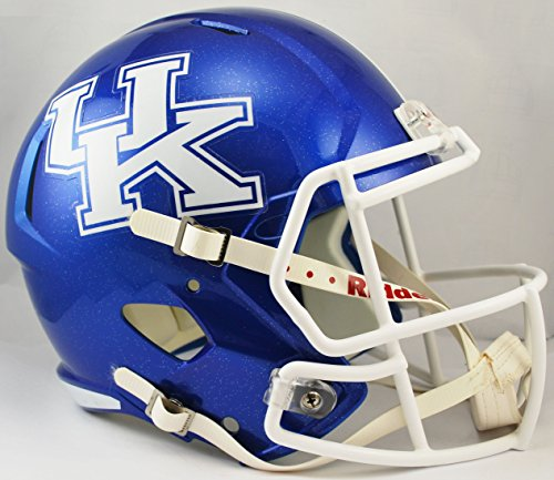 NCAA Kentucky Wildcats Full Size Speed Replica Helmet, Blue, Medium by Riddell