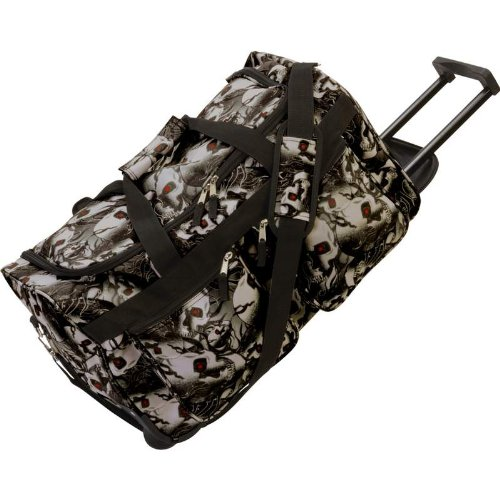 Extreme Pak Red-Eye Skull Camo Water-Resistant 21'' Trolley Bag by ExtremePak
