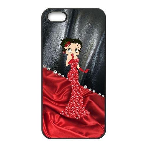 Betty Boop K3Q19B3KI coque iPhone 4 4s case coque cover black JY6H6P