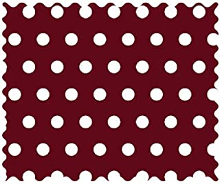 product image for SheetWorld 100% Cotton Percale Fabric by The Yard, Polka Dots Burgundy, 36 x 44