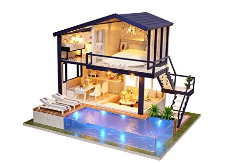 Flever Dollhouse Miniature DIY House Kit Manual Creative for sale  Delivered anywhere in USA