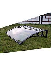 YJFENG Door Arched Canopy, Awning Shelter Outdoor Patio, Porch Front Rain Cover Window Eaves Shading Decoration, Terrace Shed Shelter for Back Door, Balcony