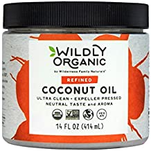Wildly Organic Coconut Oil Refined (No Coconut Flavor or Scent, Expeller Pressed), Non-GMO, - 14 FL OZ