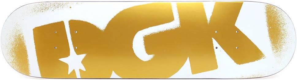 DGK DECK ディージーケー デッキ TEAM O.G LOGO 白い/ゴールド 8.0 スケートボード スケボー SKATEBOARD