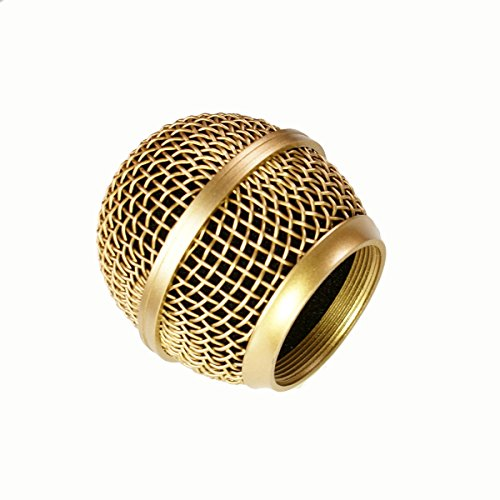 Mesh Microphone Grille For Shure SM58 565SD LC Microphone ,Copper Plated