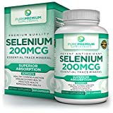 Premium Selenium Supplement by PurePremium | Thyroid & Immunity Support Dietary Supplement | Cardiovascular Health & Healthy Metabolism | Powerful Antioxidant Formula for Prostate Health | 100 Caps