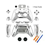 YTTL® Silver Chrome Controller Housing Shell for Microsoft XBOX ONE Wireless Controller with 3.5 mm headsets jack