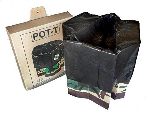 POT-T Portable Camping Toilet - Commode Chair, Compostable Toilet for Camping and Night Survival - Waste Management, Disaster Relief by POT-T