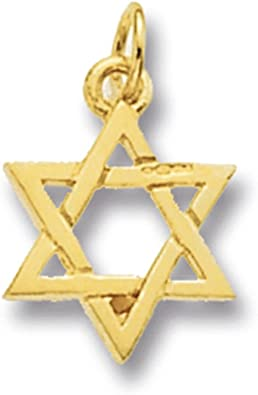 9ct Gold Star Of David Necklace