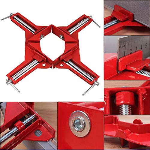 Jili Online 4pc HEAVY DUTY 3'' 80MM MITRE CORNER CLAMPS FRAME HOLDER WOODWORK RIGHT ANGLE by Jili Online (Image #5)