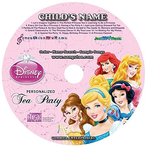"Gombita Enterprises Children Name Personalized - CD & MP3 Digital - Sing Along With Disney Princess Tea Party""CUSTOMIZE NOW"""