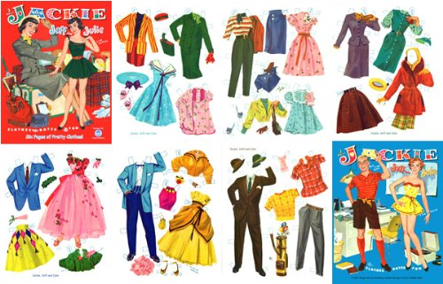 Jackie, Jeff and Julie, Restored 1961 Paper Doll (Cut Out Doll Costumes)
