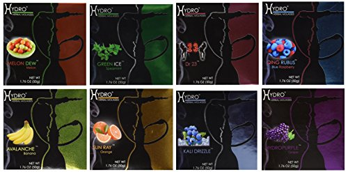 100% Tobacco and Nicotine Free Premium Hydro Herbal Hookah Shisha Molasses Flavor LOT OF 12