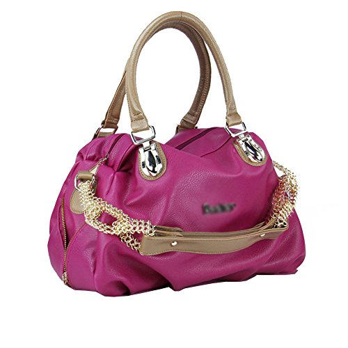 Fczero Hb10039 Pu Leather Handbag For Women Korean Version & Leisure Chain Shoulder Bags Orchid
