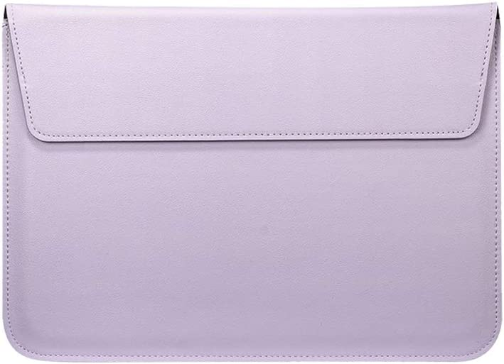 Buwico Waterproof PU Leather Sleeve Case Ultra Thin Carrying Case Storage Bag with Stand Support Function for MacBook Air/MacBook Pro 13 inch /13.3 inch Laptop(Purple)