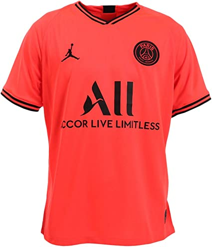 Amazon Com Nike Men S Paris Saint Germain Psg X Jordan 2019 20 Away Soccer Jersey Clothing