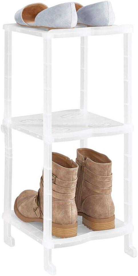 mDesign Mueble zapatero – Organizador de zapatos estrecho con tres ...