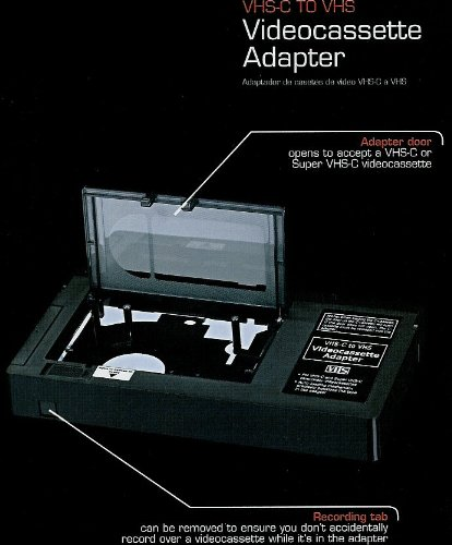 Videocassette Adapter (RadioShack VHS-C/Super VHS-C  To VHS Adapter )